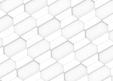 3d rendering. modern diagonal white trapezoid square tiles design wall background. Imagens