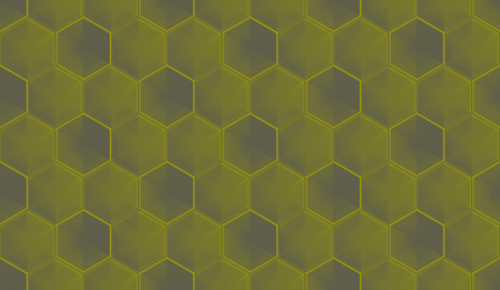 3d rendeirng. seamless dark yellow color hexagonal shape tile pattern design wall background. Stockfoto - 124932026