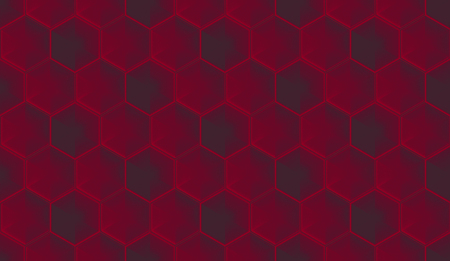 3d rendeirng. seamless dark red color hexagonal shape tile pattern design wall background.