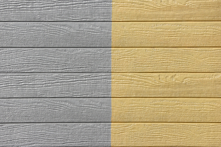 gray yellow wood panels design wall texture background. Stockfoto