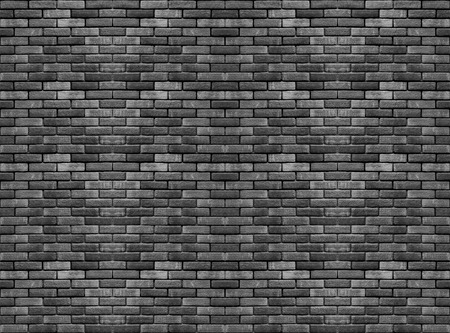 random weathered old dark black cement brick blocks stack wall texture surface background. for any vintage design artwork. Stockfoto - 124932095