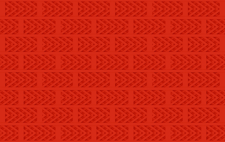 3d rendering. modern seamless red brick block design pattern stack wall background. Stockfoto