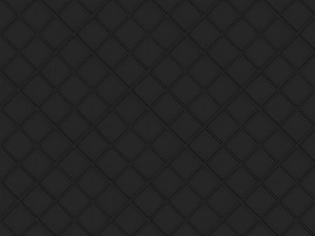 3d rendering. seamless dark black square grid art design shape pattern wall background.
