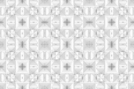 3d rendering. seamless modern soft light white square grid pattern wall background.