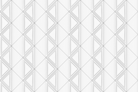 3d rendering. seamless modern white square grid tile pattern design wall texture background. Stock Photo