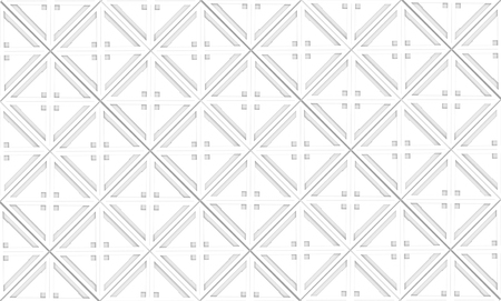 3d rendering. seamless modern white square grid tile pattern design wall texture background. Stockfoto