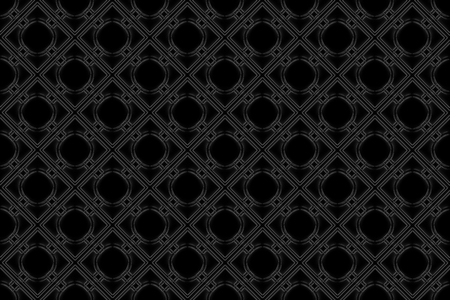 3d rendering. Seamless modern dark square grid tile pattern design wall texture background.