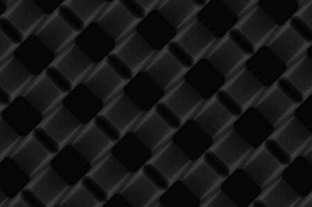 3d rendering. black diagonal geometric grid pattern art design wall background.