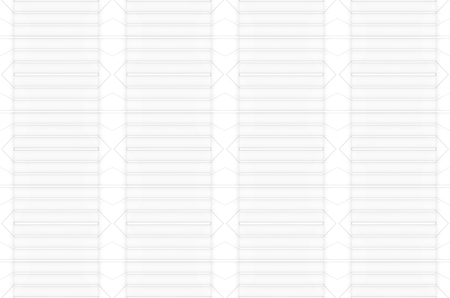 3d rendering. seamless modern simple white panel graphic art pattern wall backgorund. Stock Photo