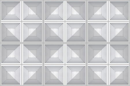 3d rendering. seamless white gray tone square gird art pattern design texture tile wall background.