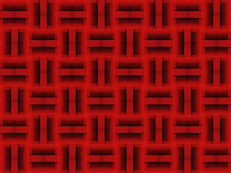 3d rendering. seamless modern dark  red square shape pattern tiles fabric wall design texture background.
