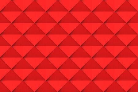 3d rendering. modern seamless red square grid art tile pattern design wall texture background.
