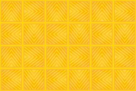 3d rendering. modern seamless yellow color tone square grid tile pattern design wall background. Stock fotó