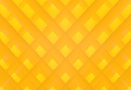 3d rendering. modern yellow shade tone color square grid art design wall background.