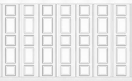 3d rendering. luxury white classical square pattern wood vintage design wall texture background. Stok Fotoğraf