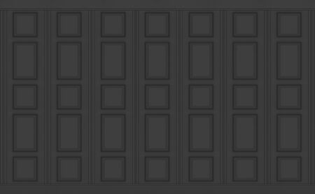 3d rendering. luxury black classical square pattern wood vintage design wall texture background. Stok Fotoğraf