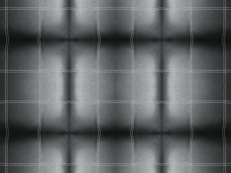 3d rendering. vintage black line stripe square tile pattern design sofa surface wall background. Stockfoto