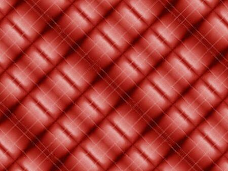 3d illustration. vintage modern dark  red square shape pattern tiles fabric wall design texture background.