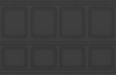 3d rendering. modern dark luxury classic square frame pattern wall design background. Stock fotó