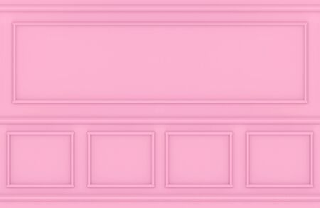 3d rendering. modern sweet pink square classic pattern wall design background.