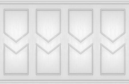 3d rendering. modern vintage classical style molding square pattern shape wall design background.