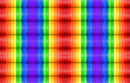 3d rendering. modern seamless rainbow colorful pattern design wall background. Banco de Imagens