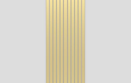 3d rendering. modern luxury Gold vertical bar pattern on gray background. Stockfoto