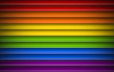 3d rendering. Rainbow color panel shutter door wall background.