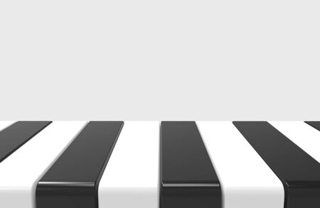 3d rendering. modern alternate black and white pattern design plate on gray wall background, in montage style. Stockfoto