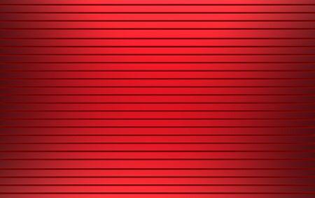 3d rendering. Red color Horizontal metal panel parallel shutter door wall background. 写真素材