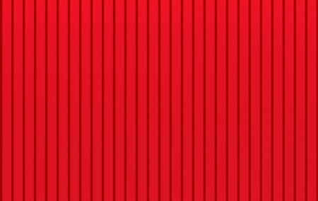 3d rendering. modern metal red parallel panels wall background