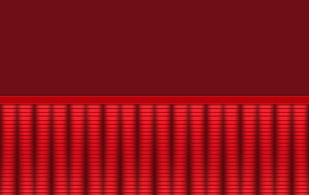 3d rendering. Red metal parallel pattern wall background.