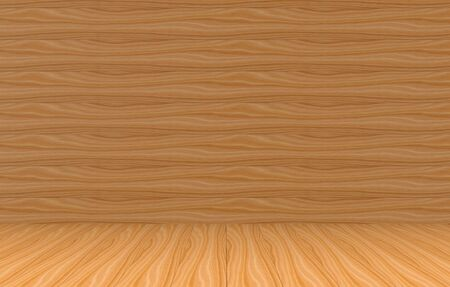 3d rendering. brown wood panels wall and floor background for any design texture. Stockfoto