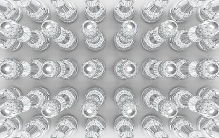3d rendering. Abstract circle object bar on gray background.
