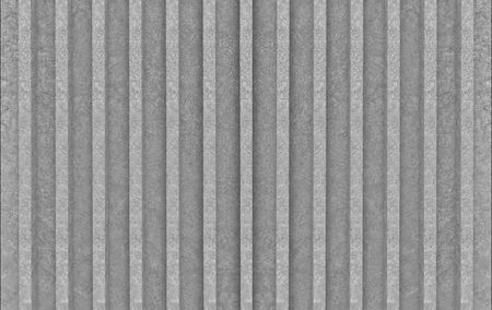 3d rendering. rough parallel gray cement bar shape pattern wall background.