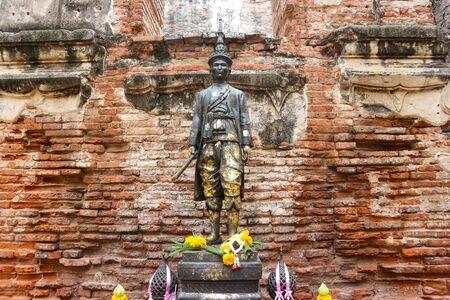 King Narai statue in Phra Narai Ratchaniwet in Lopburi Province in Thailand.