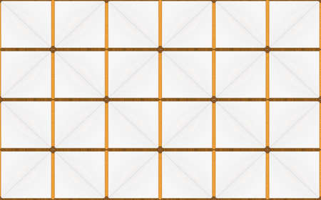 3d rendering. luxurious seamless golden square grid pattern tile wall design background.