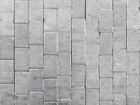 top view of gray cement blocks pavement walking path way floor background. Stockfoto