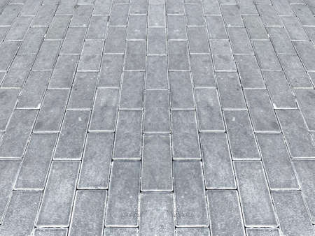 perspective view of gray cement blocks pavement walking path way floor background. Stockfoto