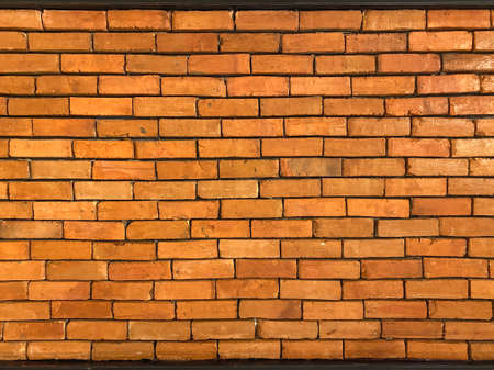 blank brown bricks wall texture background.