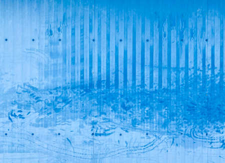 dirty blue paint steel plate wall background.
