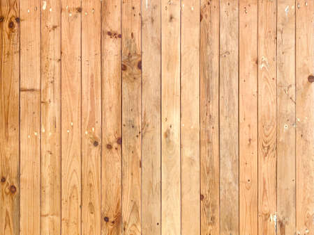 vertical natural brown wood panel row texture wall background. Stockfoto