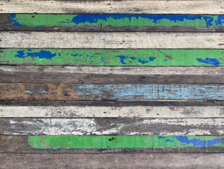 old weathered paint wood panel wall texture background.