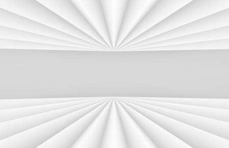 3d rendering. Abstract White folding paper fan art wall background. Stock fotó