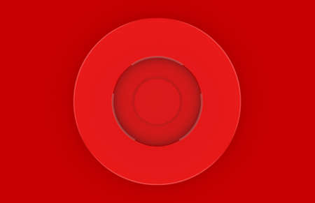 3d rendering. red circle shape design wall background.