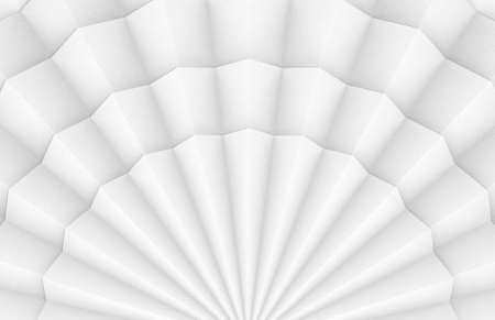 3d rendering. Abstract White folding paper fans art wall background. Stock fotó