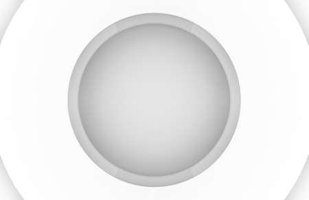 3d rendering. Futuristic White circle paper art layers wall background. Stock fotó