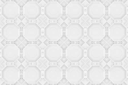 3d rendering. Seamless modern gray hexagonal shape pattern tile design wall texture background. Stock fotó