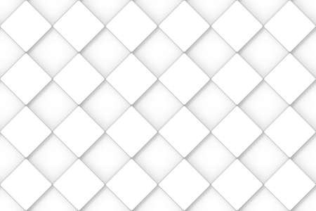3d rendering. Seamless minimal White square grid pattern art design wall background.