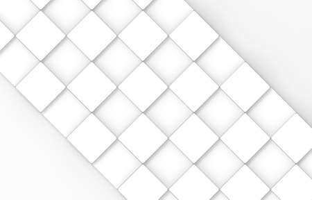 3d rendering. modern minimalist Square cube box plate board on white wall background.